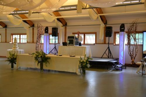 Music masters dj set up in the milk barn pickering barn issaquah, wa