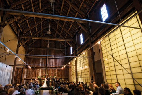 Ceremony in the Hay Barn at Pickering Barn Issaquah, WA