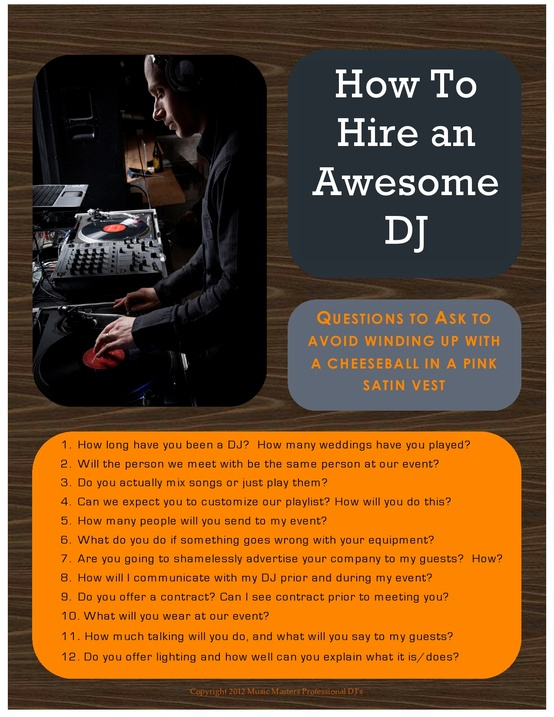 How to hire an awesome wedding dj