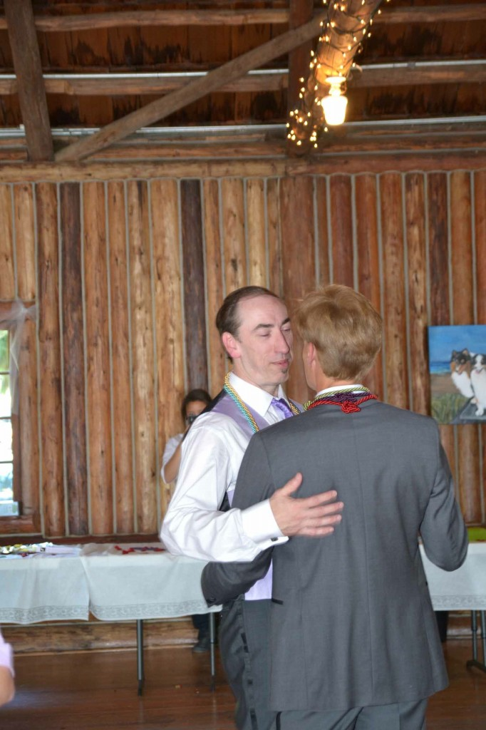 Music Masters DJ's a same sex wedding at Kitsap Memorial State Park in Poulsbo