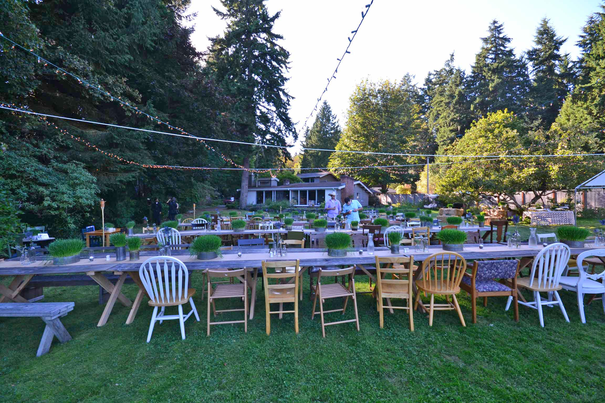 Amazing wedding on a small budget in suquamish music masters for Outdoor wedding decorations on a budget