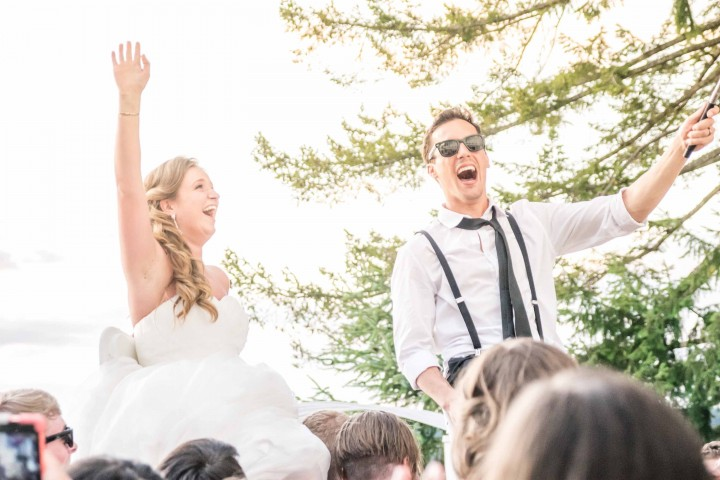 Music Masters DJ's a wedding at the Chapel on Echo Bay in Gig Harbor, Washington