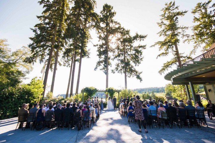 Music Masters DJ's a wedding at Manor House on Bainbridge Island