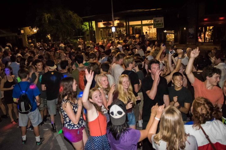 Music Masters DJ's the annual Bainbridge Island July 3rd Street Dance