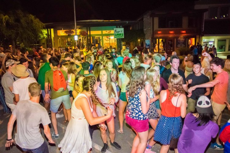 Music Masters DJ's the annual Bainbridge Island July 3rd Street Dance