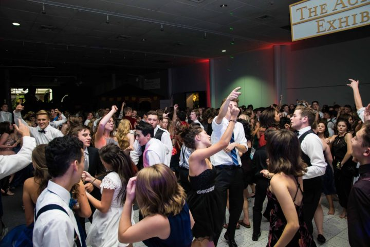 Music Masters DJ's a homecoming dance at Seattle's Pacific Science Center