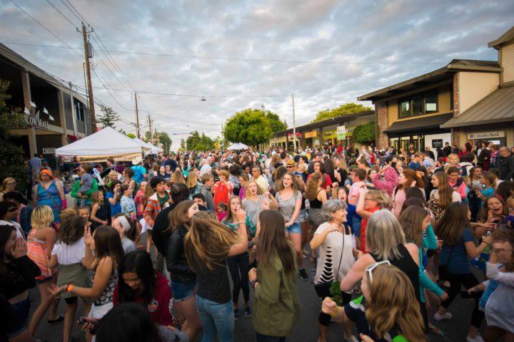 Music Masters DJ's the annual July 3rd Street Dance on Bainbridge Island