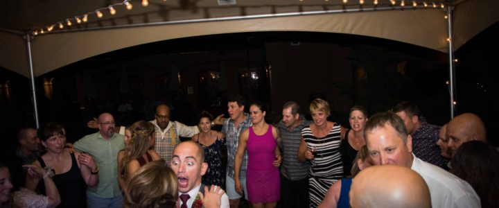 Music Masters DJ's a wedding at Tsillian Cellars in Lake Chelan