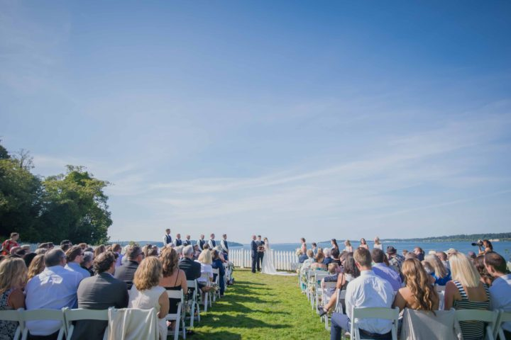 Music Masters DJ's a wedding at Port Gamble Vista Pavilion